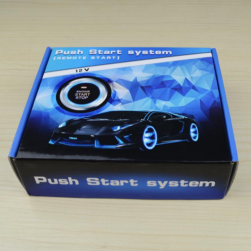 12V Auto Engine push button keyless entry system with start-stop car alarm  5