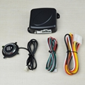 12V Auto Engine push button keyless entry system with start-stop car alarm  3