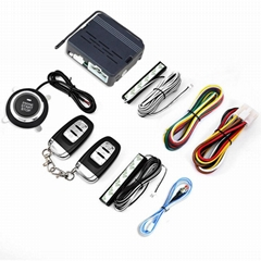 Car  Keyless Entry Remote Control Push Button Start 12V Alarm System
