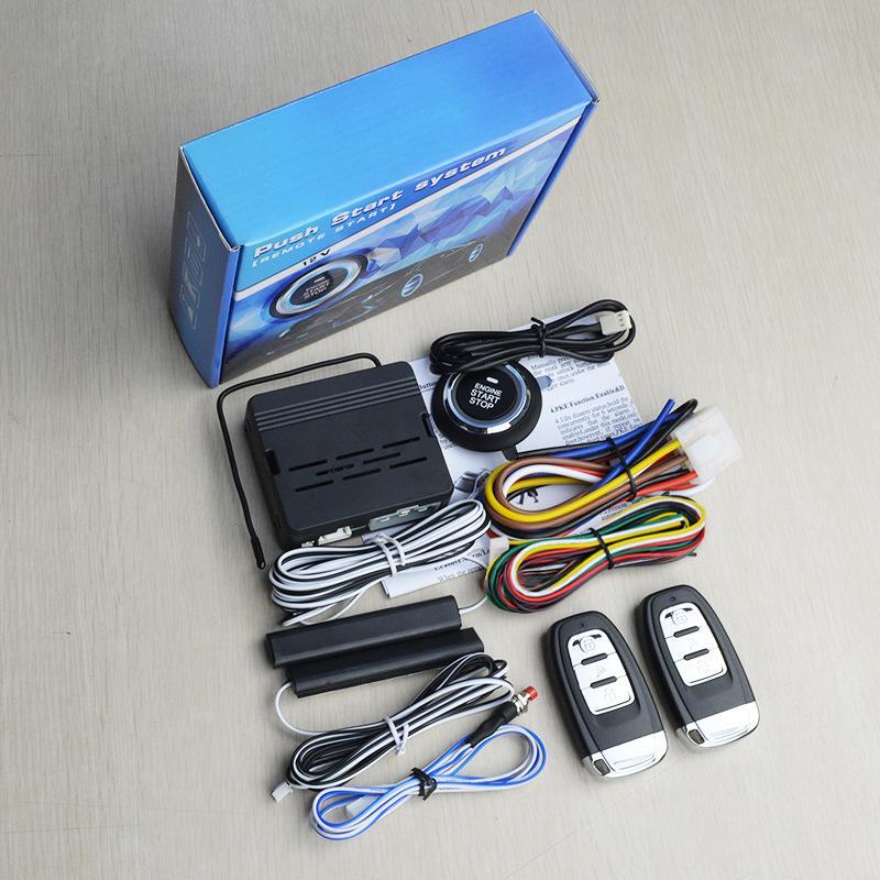通用一键启动 遥控器远程启动汽车改装PKE无钥匙进入系统防盗器 3