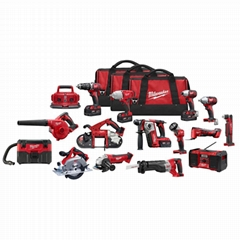 Milwaukee M18 18-Volt Lithium-Ion Cordless Combo Tool Kit (16-Tool) with Four 3.