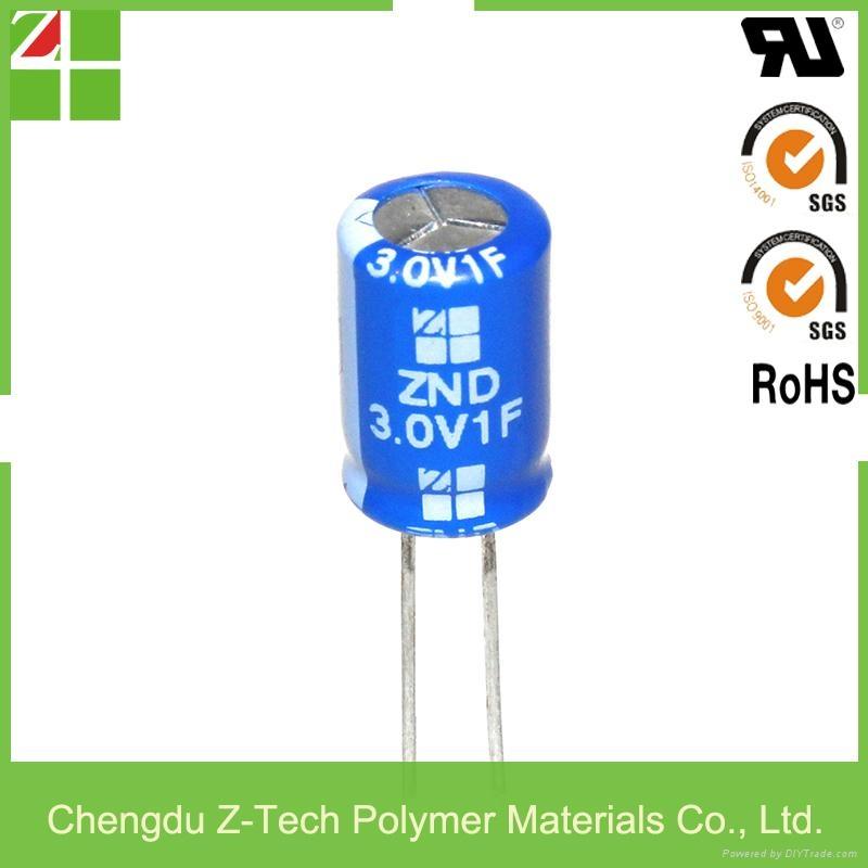 3.0V 1F lead type supercapacitor low esr edlc high power long lifespan 1