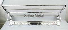 希宝  XB-0117 自产自销 活动折叠式不锈钢浴巾架 毛巾架