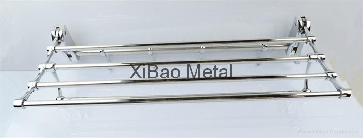 Movable folding; Stainless steel towel rack; Factory direct sales 2