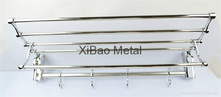 Movable folding; Stainless steel towel rack; Factory direct sales 1