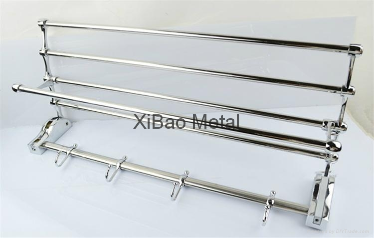 Movable folding; Stainless steel towel rack; Factory direct sales 3