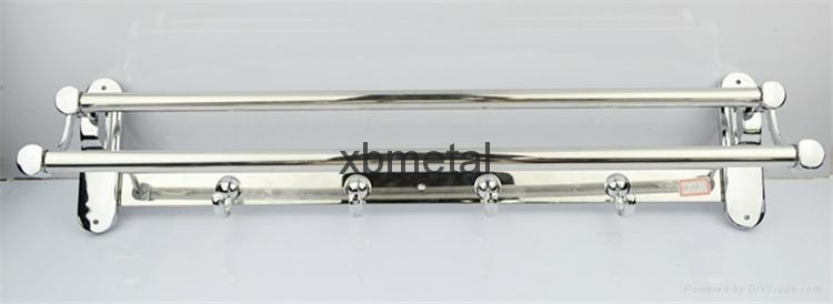 XiBao Factory direct sales; Stainless steel towel rack; Movable folding 1