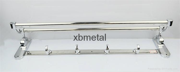 XiBao Factory direct sales; Stainless steel towel rack; Movable folding 2
