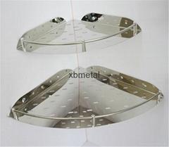 希宝不锈钢单层转角 三角篮置物架 浴室挂件 卫生间收纳网篮