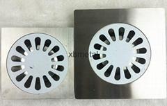 water-drop design; single; stainless steel floor drain