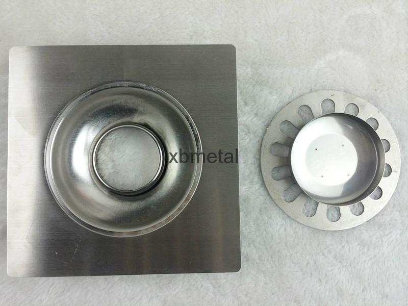 water-drop design; single; stainless steel floor drain  5