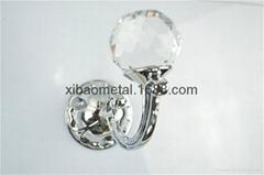 Crystal hook;European style;Glass coat hook