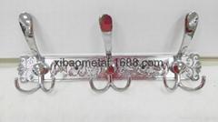 希寶新款不鏽鋼衣鉤 XB-0226 排鉤 衛浴挂鉤 花紋鉤板