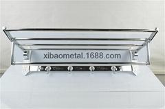希宝五金卫浴 XBT-0220 卫浴挂件 毛巾架 花纹板 浴室架