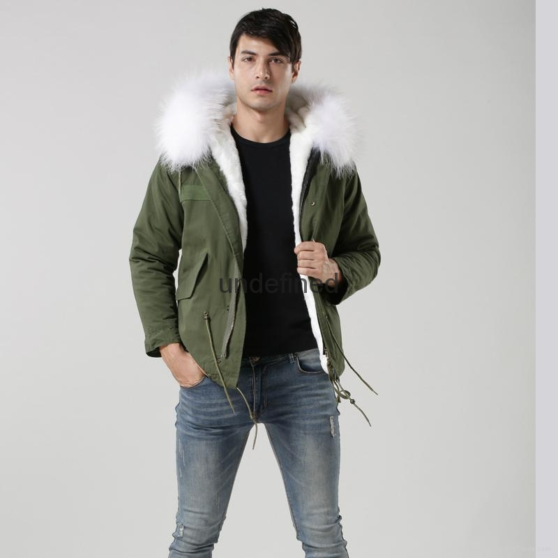 Luxury Italy top brand style mens jacket for wholesale with fur military mens fu 3