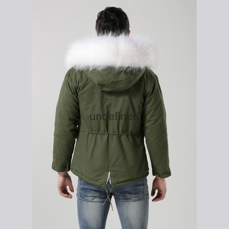 Luxury Italy top brand style mens jacket for wholesale with fur military mens fu 5