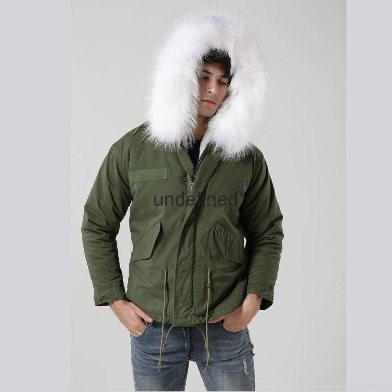 Luxury Italy top brand style mens jacket for wholesale with fur military mens fu 2