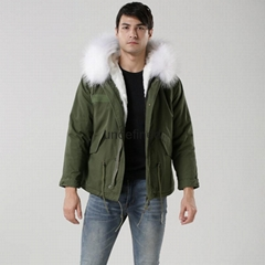 Luxury Italy top brand style mens jacket for wholesale with fur military mens fu