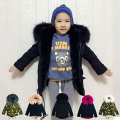 Fashionable kids wear fox fur coat,baby design style fur clothes
