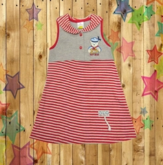 Kids baby girls children cltohes  dress Knit Cotton Garment Wholesale supplier