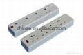 13A power UK british extension socket with Individual Switches 2