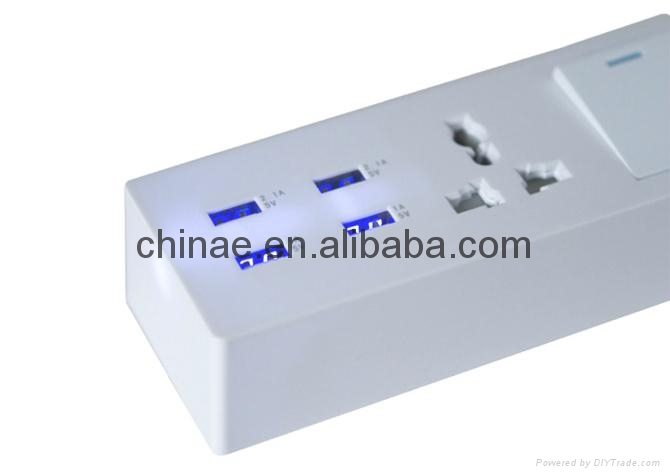 5v 2a micro usb charger 4port USB sockets travel charger 3