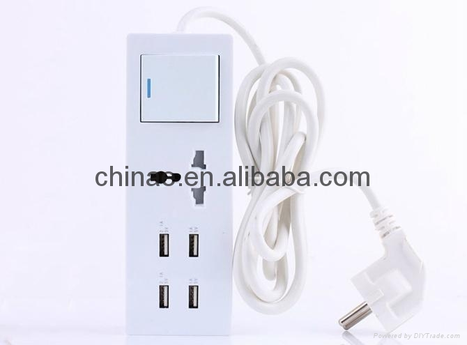 5v 2a micro usb charger 4port USB sockets travel charger 1