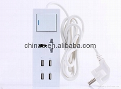 5v 2a micro usb charger 4port USB sockets travel charger