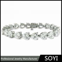 2015 costume 925 sterling silver jewelry bracelets