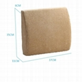 Popular car back support massage cushion foam back pillow 3