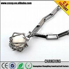 2015 Beautiful silver latest design pearl fashion pearl necklace