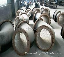 耐磨陶瓷弯头,三通,大小头. 耐磨弯管 4