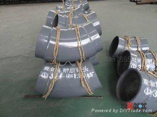 双金属弯头和直管,内衬稀土耐磨钢、高铬铸铁 弯头 18