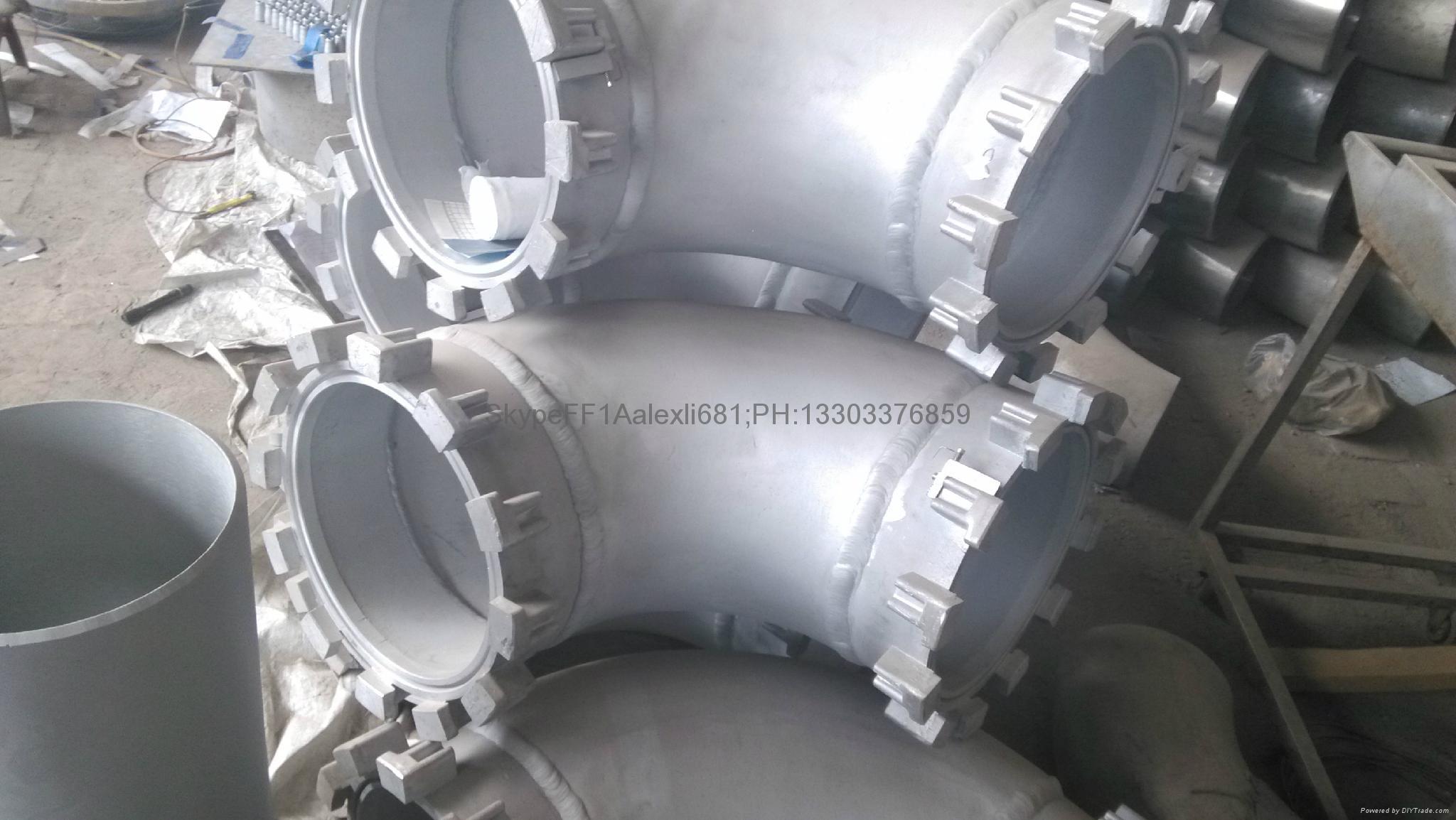 Aluminum elbow.seamless aluminum elbow,90°,1060.5083 elbow. 16