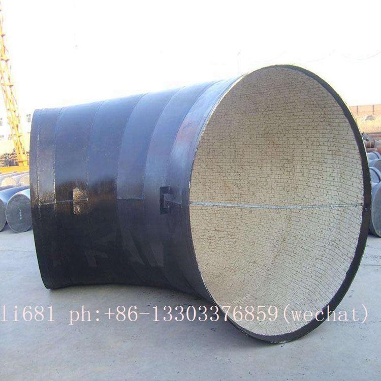 Wear-resistant ceramic elbow, tee, reducer, wear-resisting bend 8