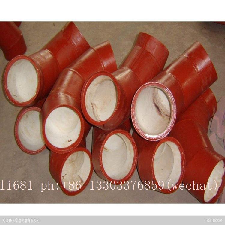 Wear-resistant ceramic elbow, tee, reducer, wear-resisting bend 12