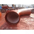 Wear-resistant ceramic elbow, tee, reducer, wear-resisting bend 13
