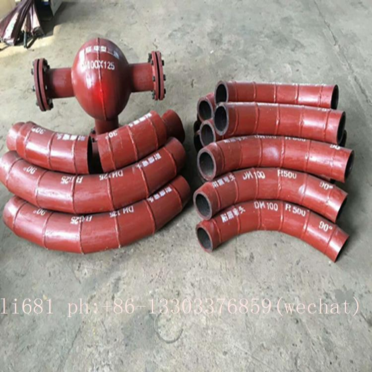 high chromium cast iron elbow,cerametal wear-resistant alloy pipe and elbow  12