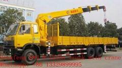 dongfeng 6*4 8-12ton truck mounted crane
