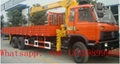dongfeng 6*4 8-12ton truck mounted crane for sale  2