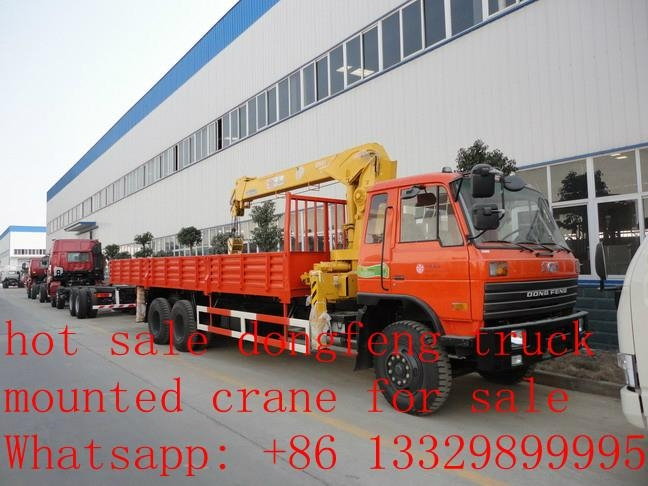 dongfeng 6*4 8-12ton truck mounted crane for sale  4