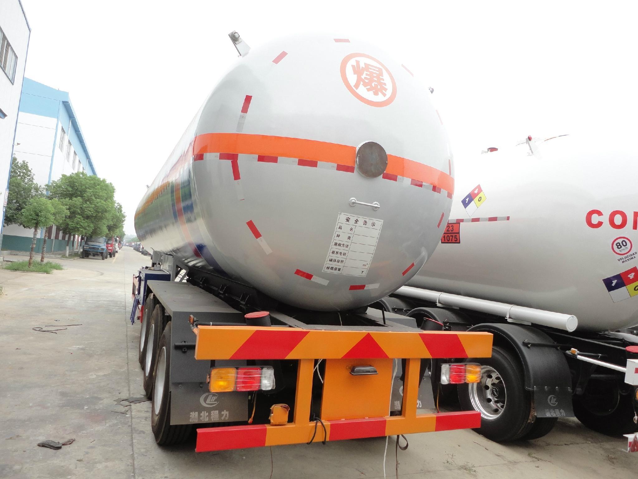2 axles 40.5cbm LPG gas trailer for sale  4