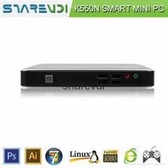 stand alone green  Intel I5 core MINI PC 2G RAM 16G SSD  elegant design usb2.0*8