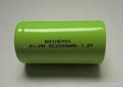 Ni-MH SC3300mAh 1.2V rechargeable battery