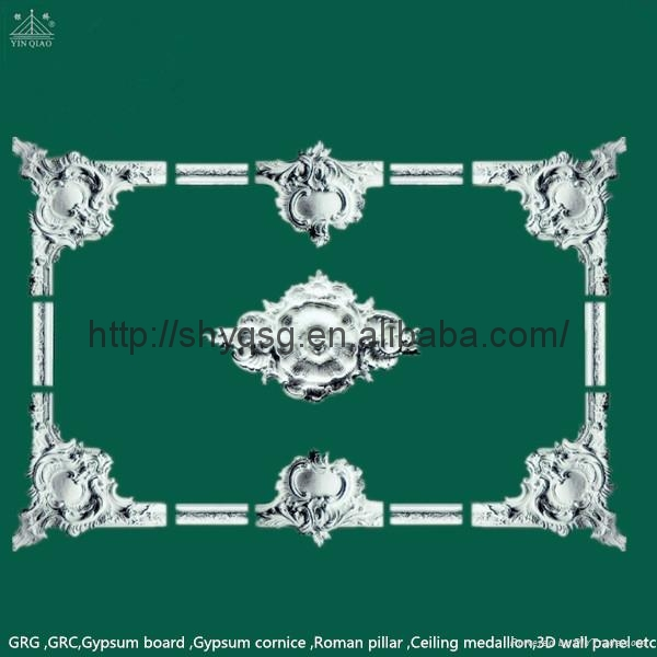 Decorative Fiberglass Gypsum Plaster Ceiling Frame