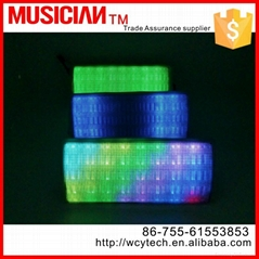 2015 new colorful LED light bluetooth mini wireless speaker with USB port Suppor