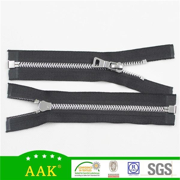 5# zinc alloy open end with AAK P204 puller auto lock slider zipper 2