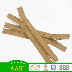 8# delrin close end with three section lute pieces puller plastic resin zipper