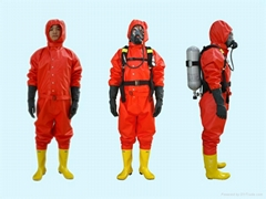 Fire Fighting Totally Enclosed Rubber Chemical Protective suits