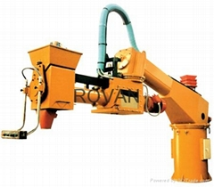 Double hand resin sand mixer